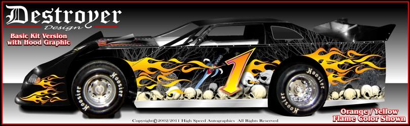Late Model Race Car Graphics