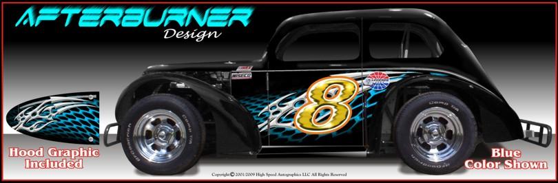 Legend And Dwarf Race Car Graphics
