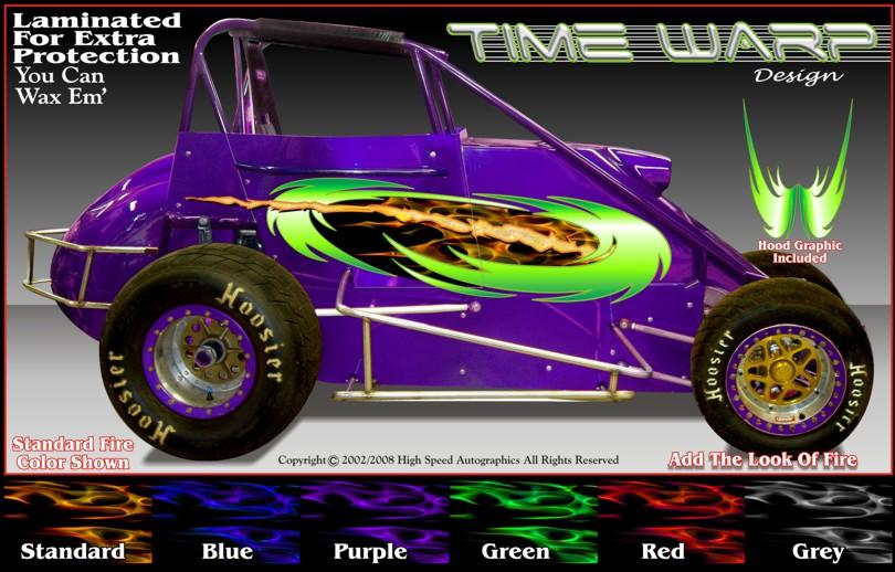 Midget And Sprint Car Decal Dirt Race Graphics