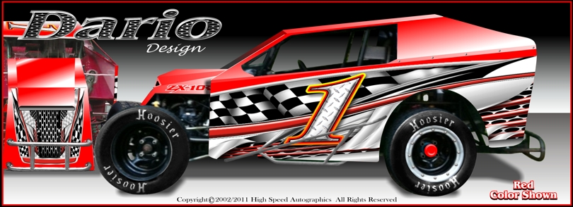 Race Car Numbers | Dirt Light Modified Graphics | Modified