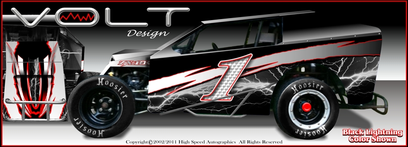 Modified Light Dirt Car Wraps | Modified Race Graphics | Race Car Decals