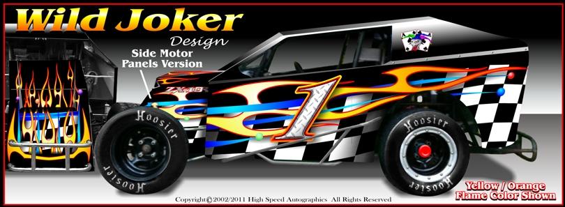Modified Light Dirt Race Car Wraps | Dirt Modified Race Car