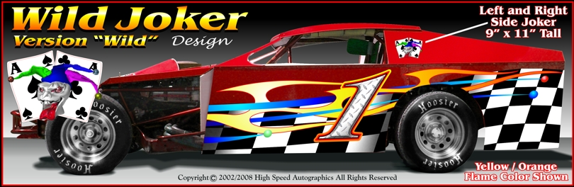 Modified dirt race car wraps dirt modified race car graphics