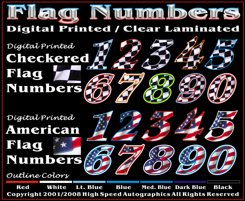 Race Car Numbers Race Car Lettering Race Car Graphics Race